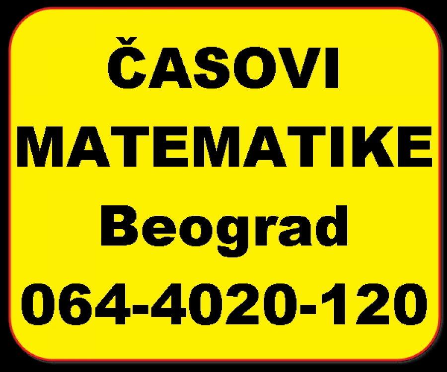 CASOVI MATEMATIKE - u Beogradu Slika