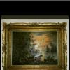 Slika i luster masivan zlatni ram. ponuda Hobi, umetnine, nakit