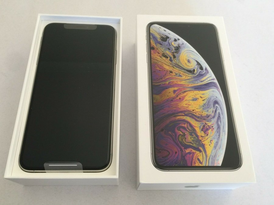 NEW SEALED Apple iPhone XS Max - 512GB - Silver (FACTORY WORLDWIDE UNL Slika